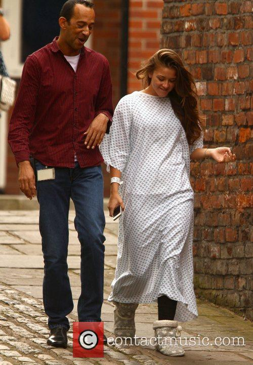 brooke vincent seen wearing a hospital gown 4070643