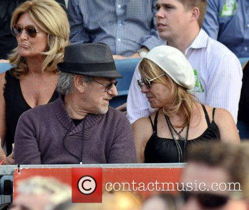 Steven Spielberg, Bruce Springsteen and Kate Capshaw