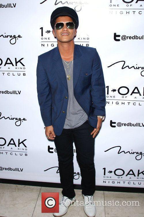 Bruno Mars Bruno Mars arrives to perform live...