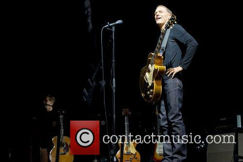 Bryan Adams performing live on stage at Pavilhao...