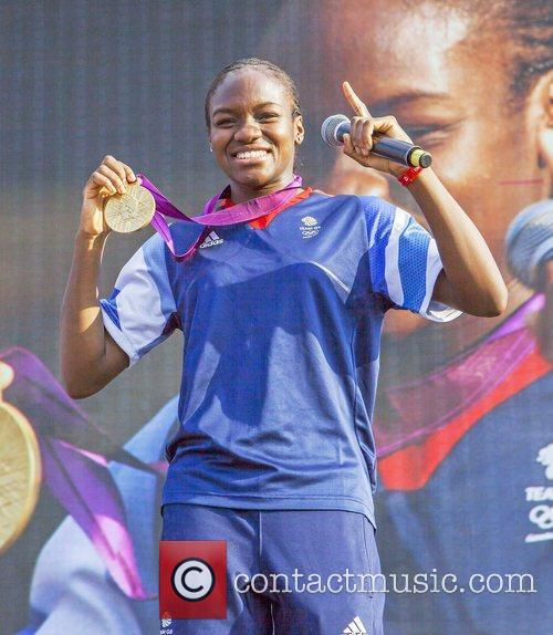 Olympic medallist winners attend the BT London Live...