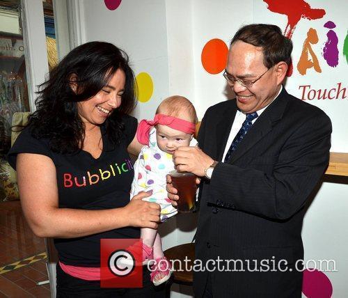 Dr. Harry Ho-Jen Tseng with Celine Murphy and...
