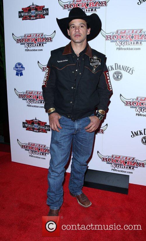 Agnoldo Cardozo Professional Bull Rider Superstars walk the...