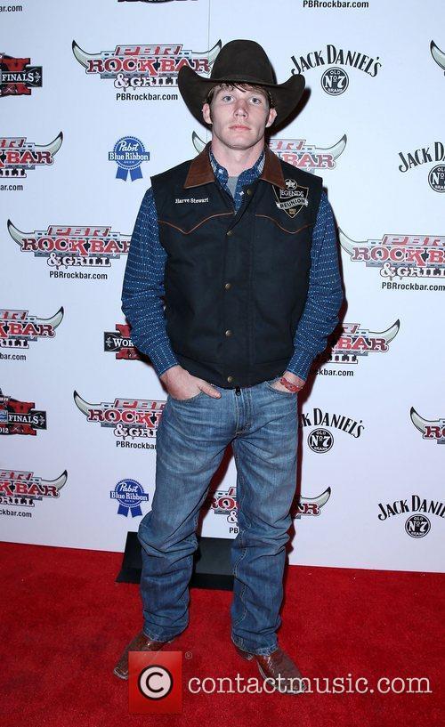 Harve Stewart Professional Bull Rider Superstars walk the...