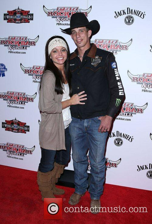 J B Mauney and Guest Professional Bull Rider...