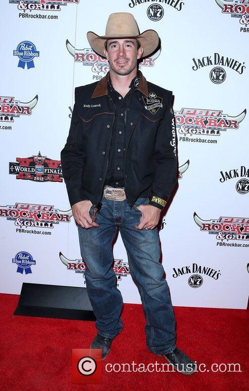 Kody Lostroh Professional Bull Rider Superstars walk the...