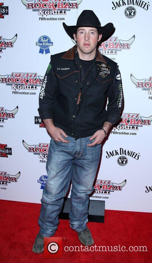 L J Jenkins Professional Bull Rider Superstars walk...