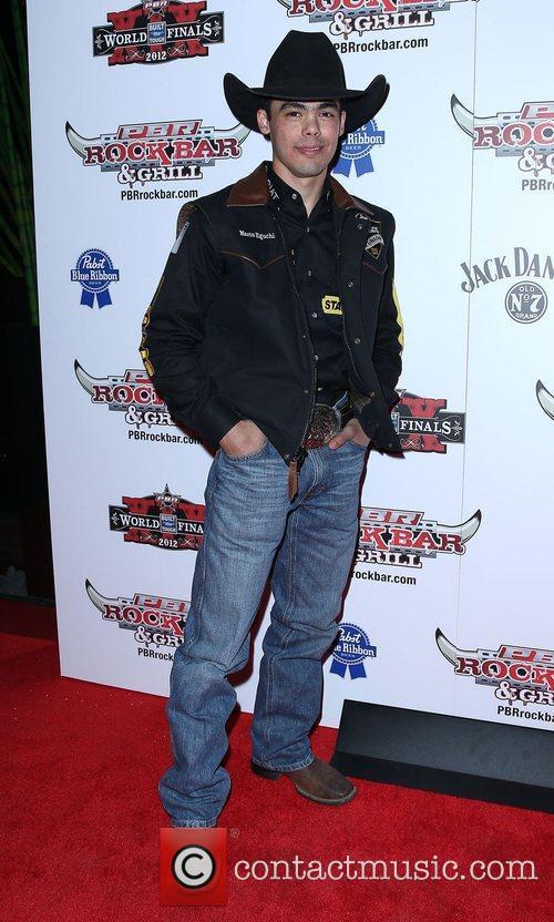 Marco Eguchi Professional Bull Rider Superstars walk the...