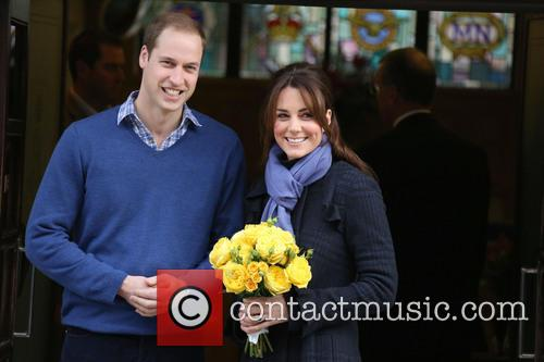 Prince William, The Duke of Cambridge and Kate Middleton, the Duchess of Cambridge, leave the King Edward VII Hospital together