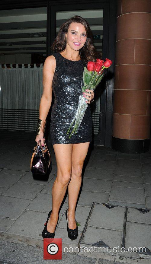 Lizzie Cundy leaving C London Restaurant,