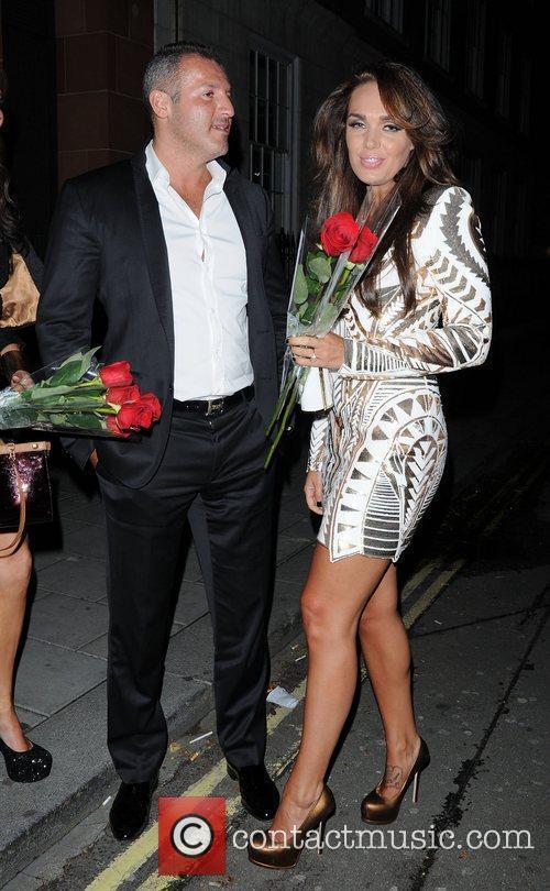 Tamara Ecclestone and Omar Khyami leaving C London...