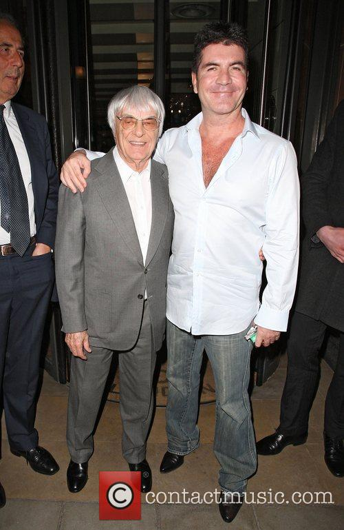 Simon Cowell and Bernie Ecclestone 4