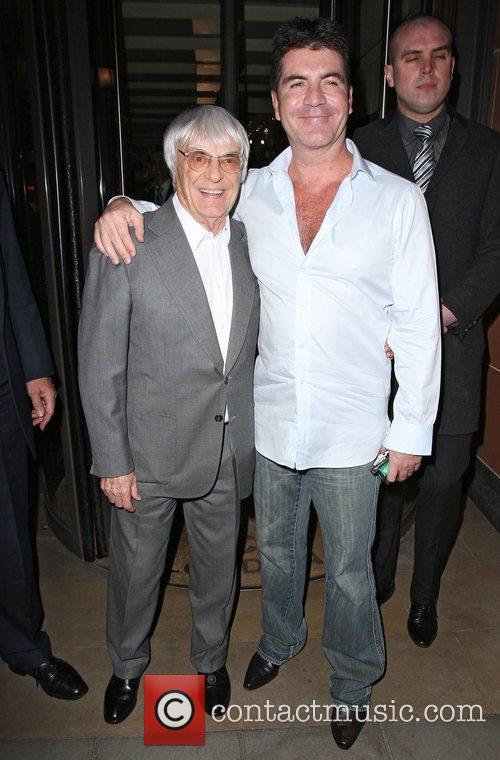 Simon Cowell and Bernie Ecclestone 7