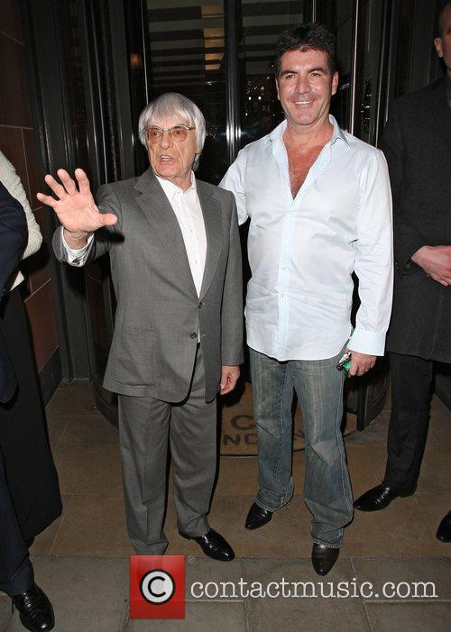 Simon Cowell and Bernie Ecclestone 1