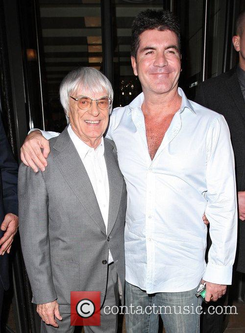 Simon Cowell and Bernie Ecclestone 8