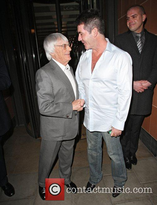 Simon Cowell and Bernie Ecclestone 9