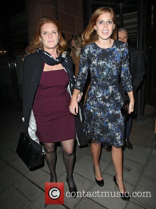 Sarah Ferguson, Duchess, York, Princess Beatrice and C London 1