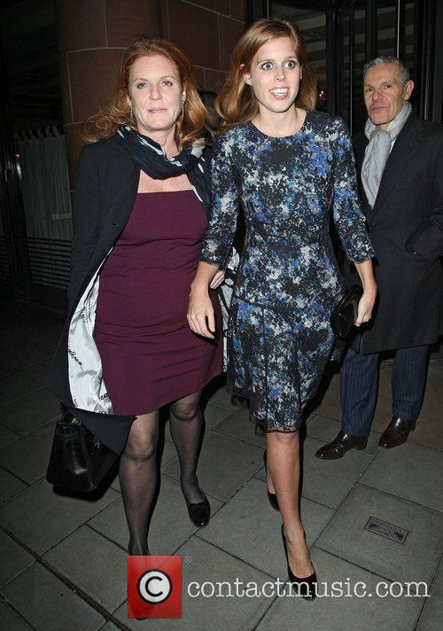 Sarah Ferguson, Duchess, York, Princess Beatrice and C London 2