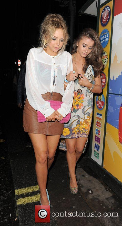 Sacha Parkinson, Brooke Vincent and Cafe De Paris 2