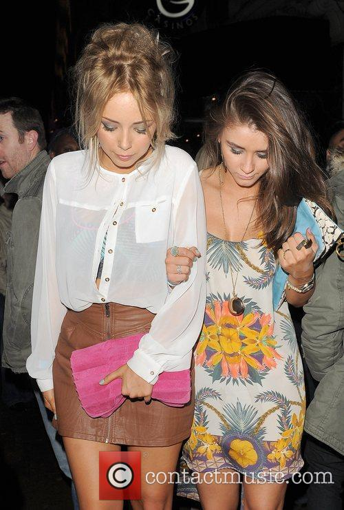 Sacha Parkinson, Brooke Vincent and Cafe De Paris 6