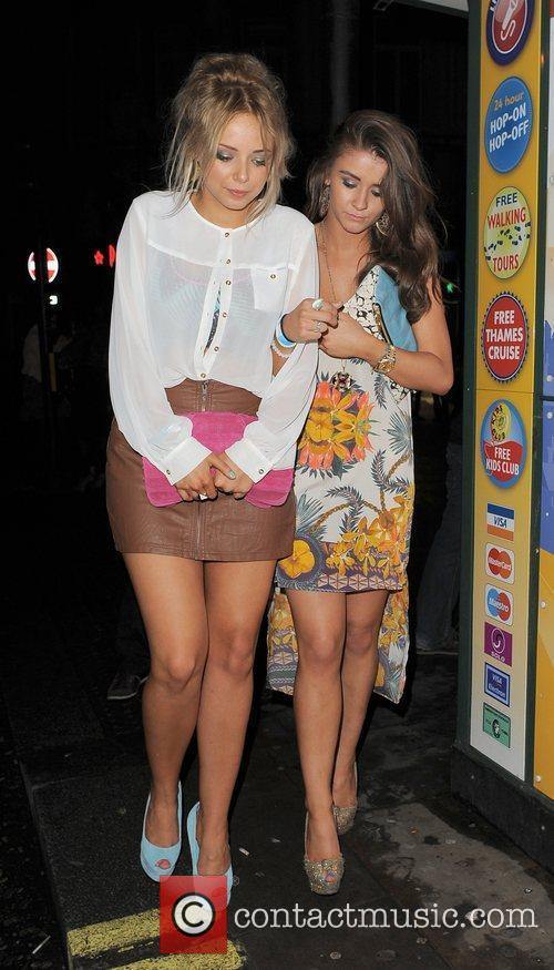 Sacha Parkinson, Brooke Vincent and Cafe De Paris 7