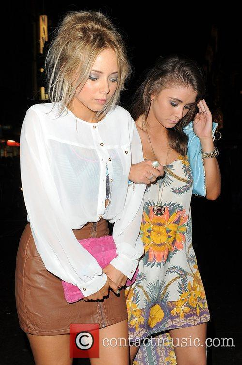 Sacha Parkinson, Brooke Vincent and Cafe De Paris 9