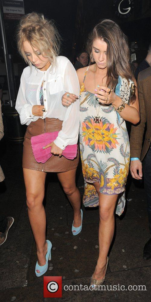 Sacha Parkinson, Brooke Vincent and Cafe De Paris 10