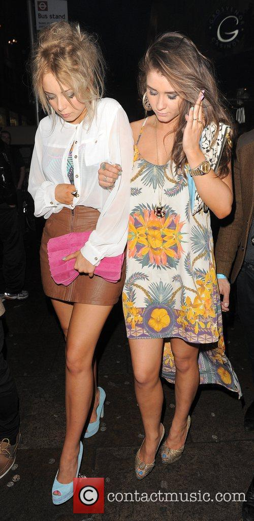 Sacha Parkinson, Brooke Vincent and Cafe De Paris 13