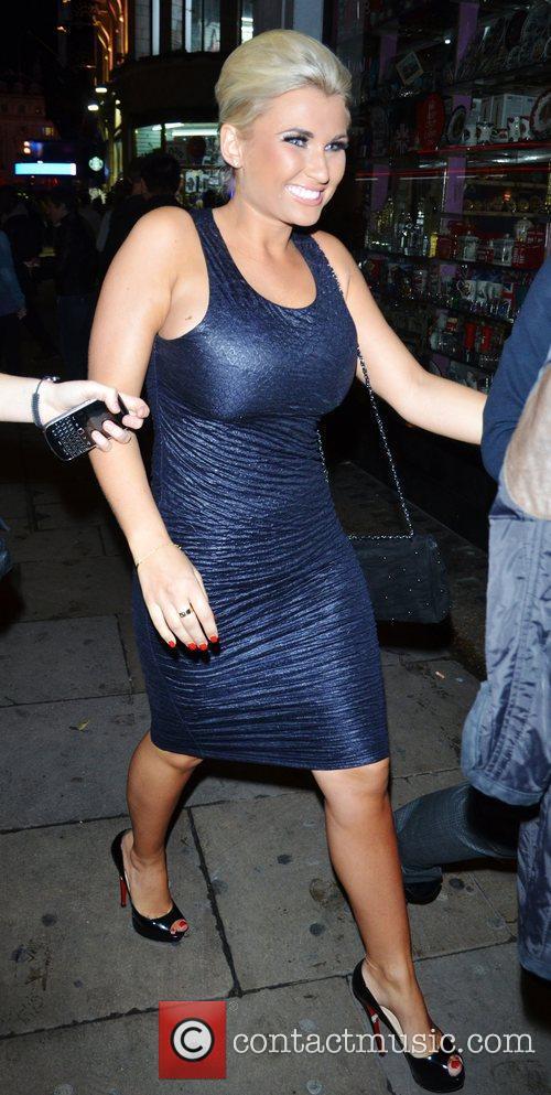 Billie Faiers leaves Cafe de Paris in London's...