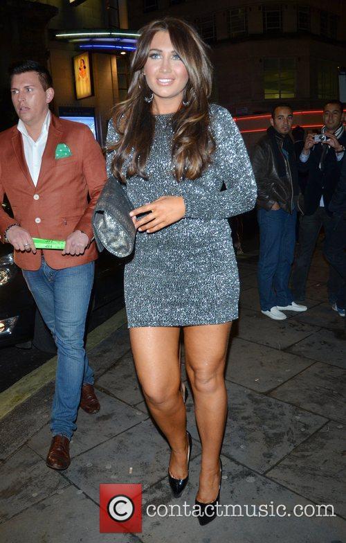 Lauren Goodger leaves Cafe de Paris in London's...