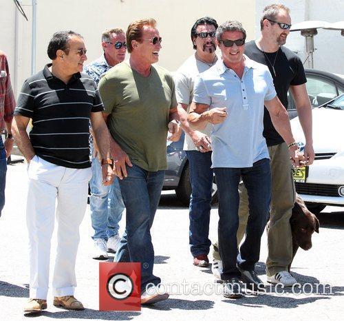 Sylvester Stallone and Arnold Schwarzenegger 2