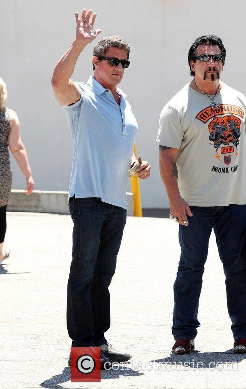 sylvester stallone leaves caffe roma in beverly 3971121