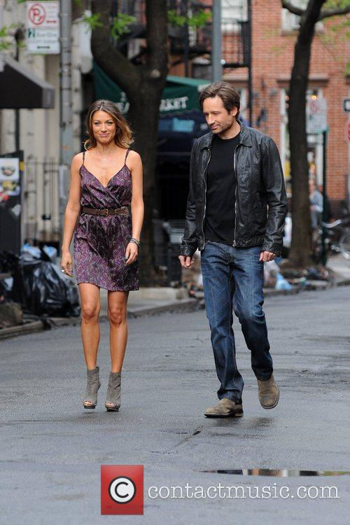 david duchovny and natalie zea seen on 5828537