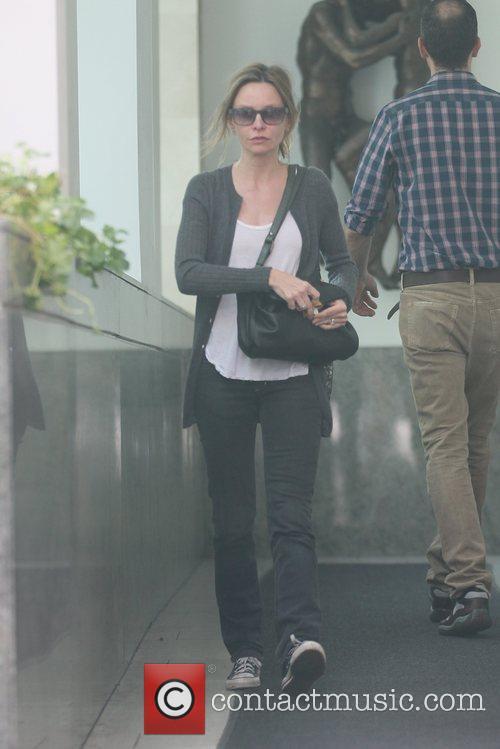 Calista Flockhart shopping in Beverly Hills wearing Converse...