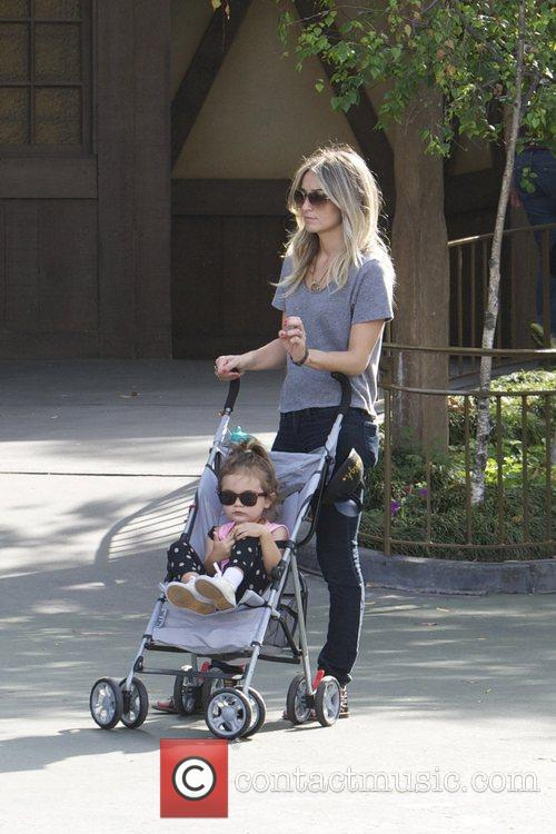 Cam Gigandet spends the day at Disneyland with...