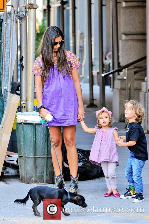 And her children Levi and Vida McConaughey are...
