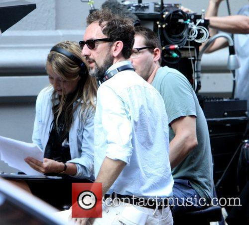 Director John Carney on the set of his...
