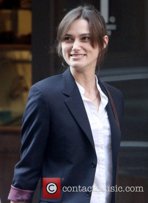 Keira Knightley on the set of her new...