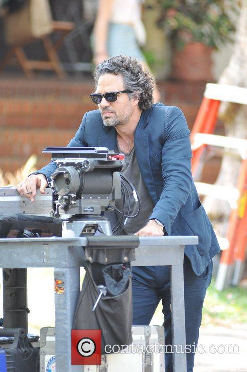 Mark Ruffalo on the set of 'Can A...