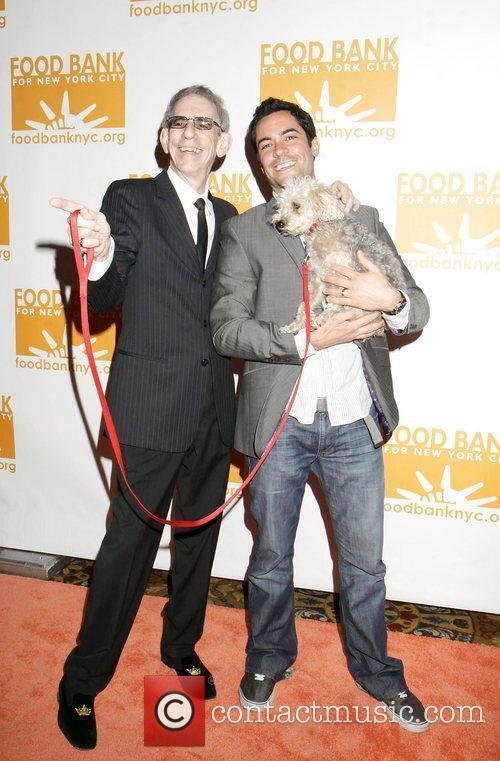 Richard Belzer and Danny Pino with dog, Bebe...