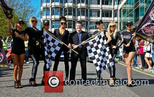 Ricky Hatton Cannonball 2000 Car Rally launch at...