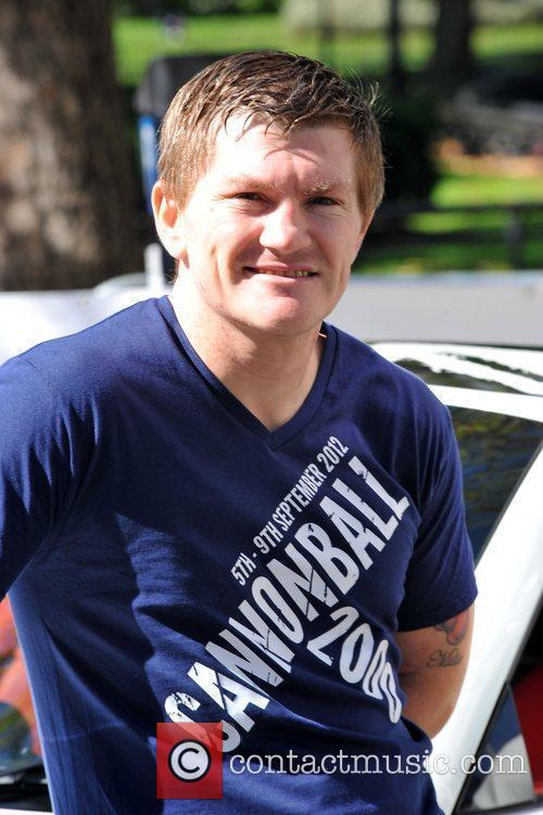 Ricky Hatton attending the Cannonball 2000 Launch at...