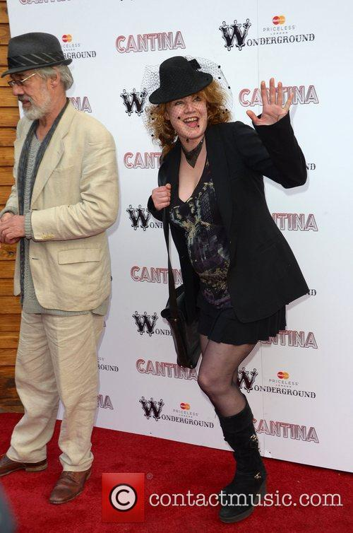 Roger Lloyd-Pack and Emily Lloyd Cantina opening night...