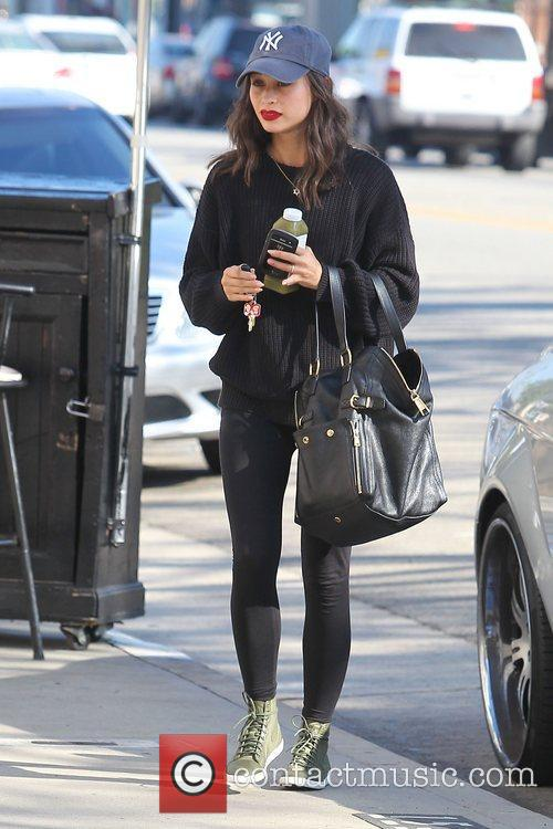 Cara Santana heads for the gym in Studio...
