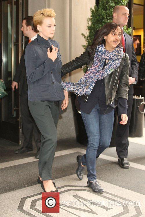 Carey Mulligan leaving her New York hotel New...