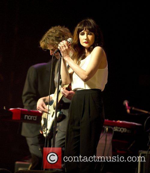 Dutch actress Carice van Houten performing at the...