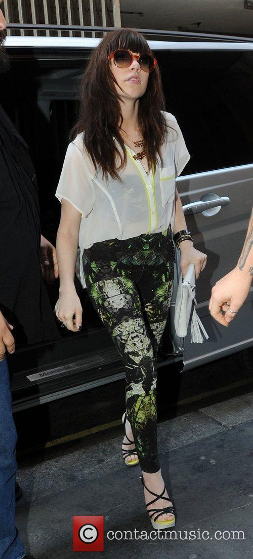 Arriving at the KISS radio studios