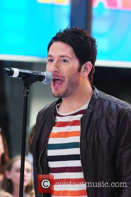 Adam Young performing live during the 'Today Show'...