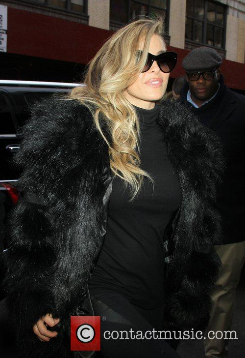 Arriving at the Wendy Williams Show to promote...