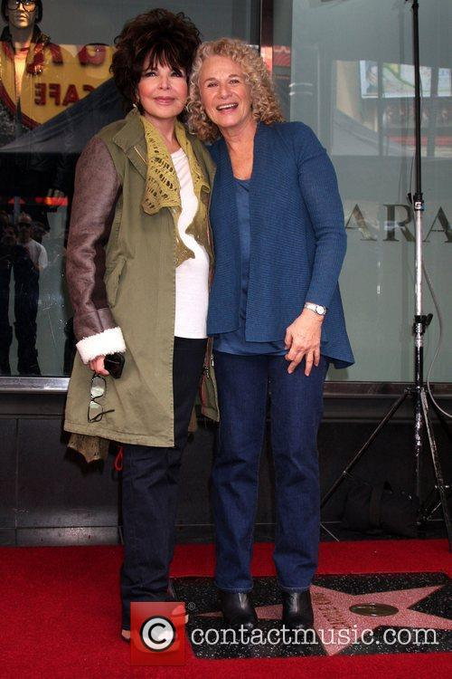 Singer-songwriter Carole King is honored with a Hollywood...